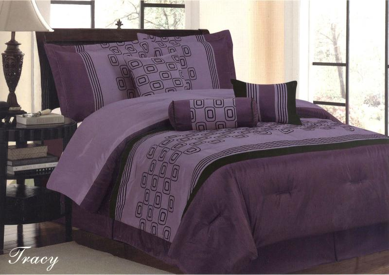7 pieces king size contemporary design comforter set