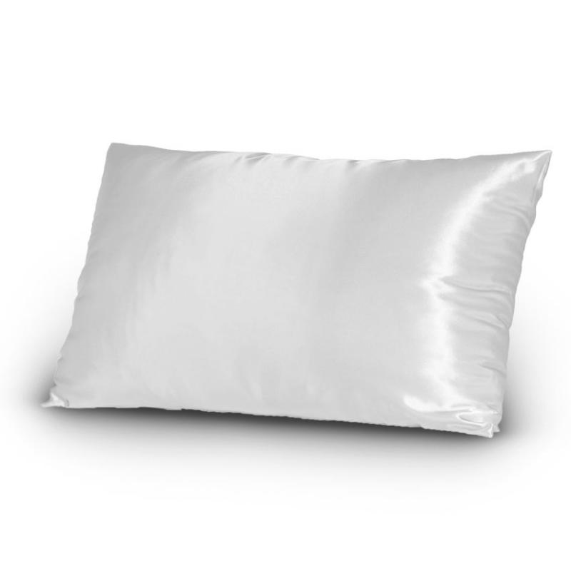 Pair Of Satin Pillowcases Queen/Standard Size Pure White