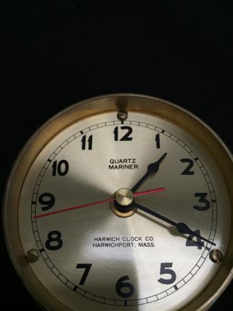 VTG QUARTZ MARINER BRASS SHIPS CLOCK HARWICH CLOCK CO ...