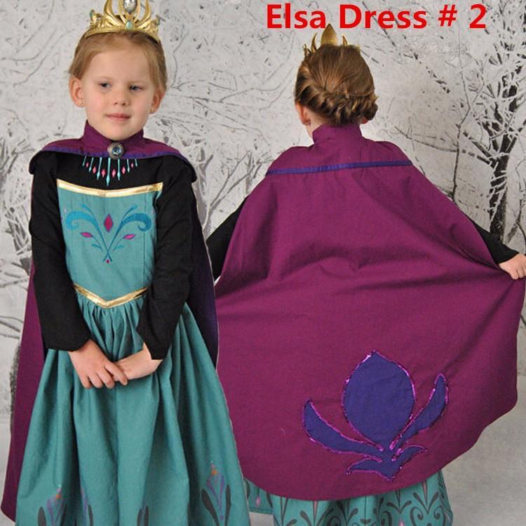 f408ab479 Princess Elsa Anna Frozen Dressup Costume Dress Ball Gown Toddler 2 ...