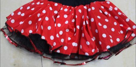 Lovely Baby Girls Polka Dot Skirt Christmas Gift Dress with Free Headband 2-7 T