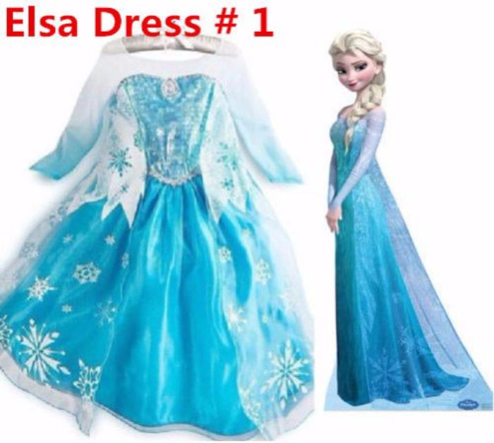 e7e0df24f6870 Princess Elsa Anna Frozen Dressup Costume Dress Ball Gown Toddler 2 ...