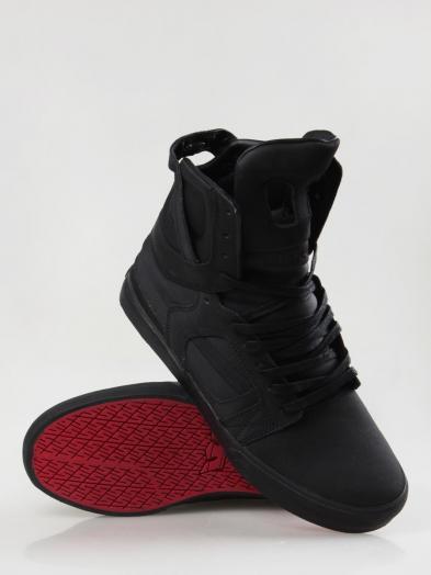 Supra Skytop Ii Black Satin Red Carpet Series Mens Shoes