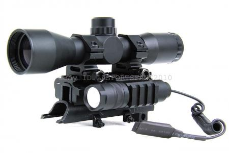 Sks 4x32 Mil Dot Compact Scope With Tri Rail Mount Led