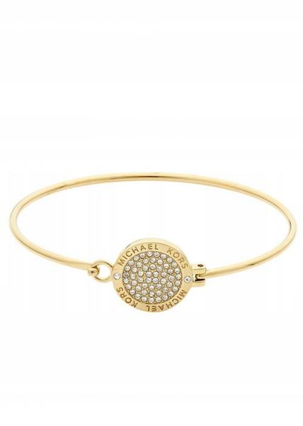 c083a9c0e6e Michael Kors MKJ3559 Gold-Tone Bangle Bracelet With Crystal Pave ...