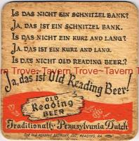 "1930s Pennsylvania OLD READING BEER /""Kurz and Lang/"" 4¼/"" Coaster"