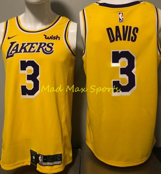 premium selection 3055c 0e164 Details about ANTHONY DAVIS '19 Los Angeles LAKERS Nike WISH Gold ICON  Swingman Jersey S-XXL