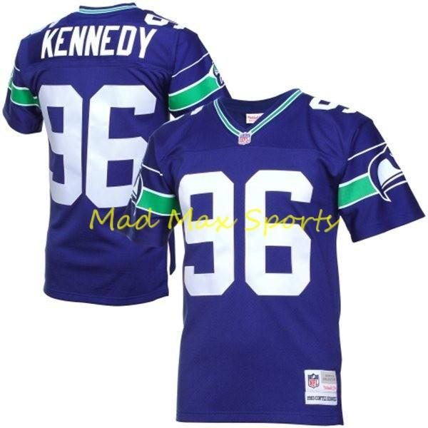 CORTEZ KENNEDY Seattle SEAHAWKS Home MITCHELL AND NESS Throwback ...