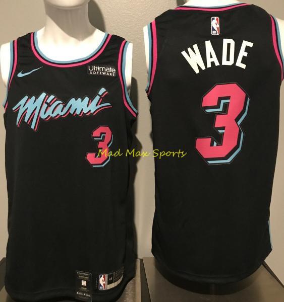 buy popular 9a096 f0d14 Details about Nwt DWYANE WADE Miami Vice HEAT Nike CITY EDITION W/ Logo  SWINGMAN Jersey S-XXL