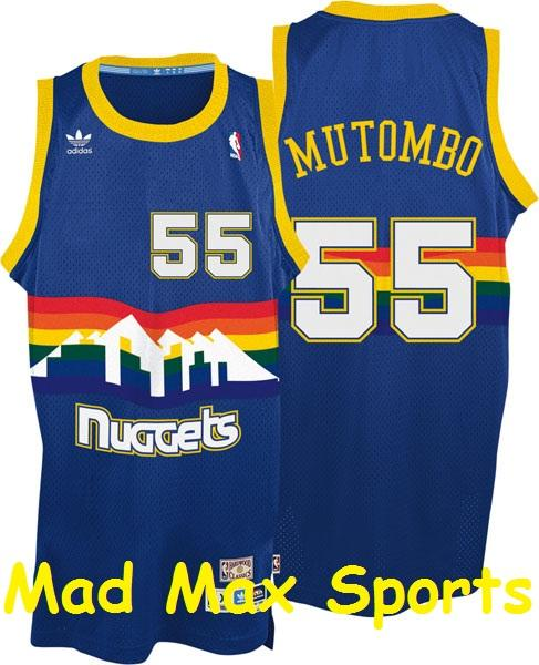 Denver Nuggets All Time Players: DIKEMBE MUTOMBO Denver NUGGETS Hardwood CLASSIC Throwback