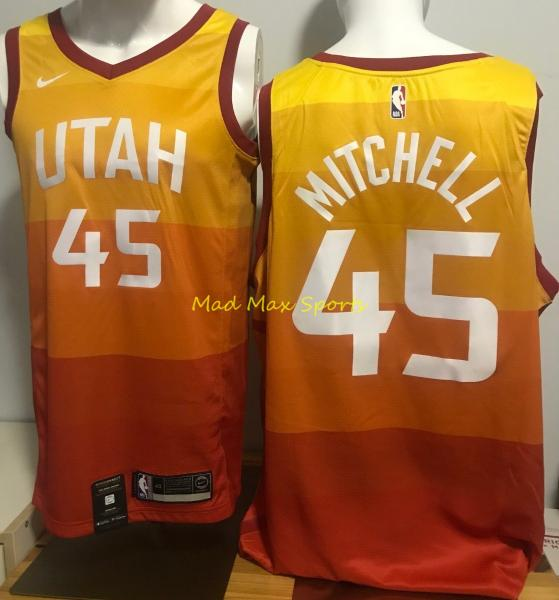 super popular b7e24 67e26 Details about DONOVAN MITCHELL Utah JAZZ Nike MEN'S Orange CITY EDITION  Swingman Jersey S-XXL
