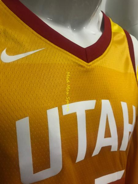 bdd558827 DONOVAN MITCHELL Utah JAZZ Nike WISH Orange CITY EDITION Swingman ...
