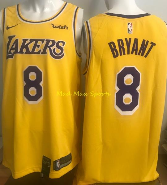 wholesale dealer 969a3 54dc4 Details about KOBE BRYANT Los Angeles LA LAKERS Nike WISH Gold ICON  Swingman Jersey Sz S-XXL