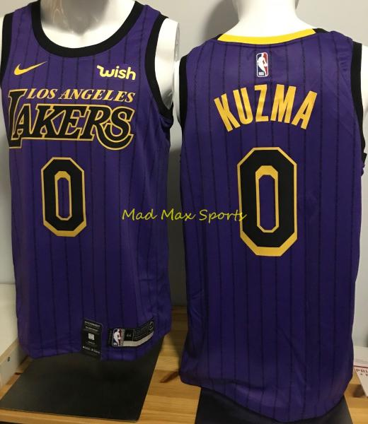 size 40 7c78b 10b04 Details about KYLE KUZMA Los Angeles LAKERS Nike WISH Purple CITY EDITION  Swingman Jersey