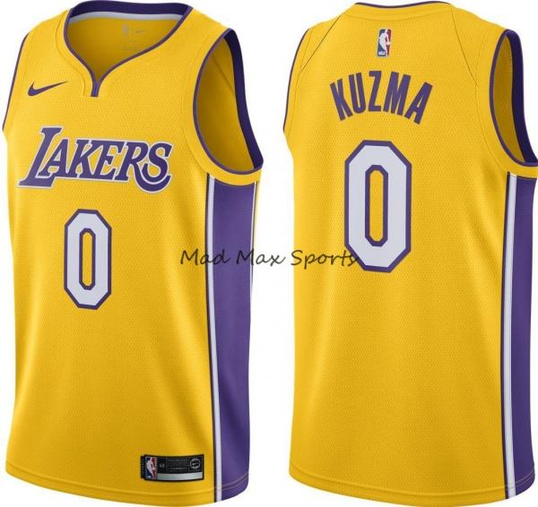 sports shoes 186b5 747c5 Details about New KYLE KUZMA Los Angeles LAKERS Nike GOLD Icon Edition  SWINGMAN Jersey S-3XL