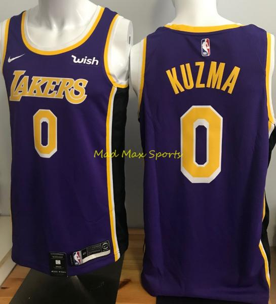 new product 2e76b 1021a Details about KYLE KUZMA Los Angeles LA LAKERS Nike '18 Wish STATEMENT  Swingman Jersey S-XXL