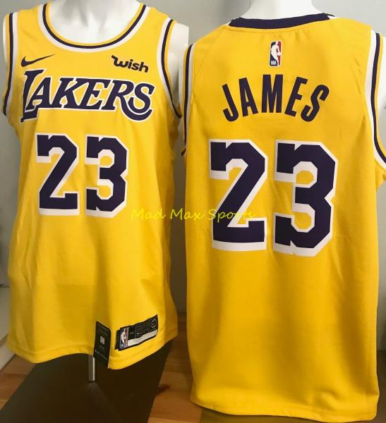 info for 14e76 1e63a Details about LEBRON JAMES Los Angeles LA LAKERS Nike WISH Gold ICON  Swingman Jersey Sz S-XXL
