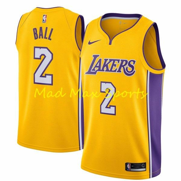 separation shoes da507 9a9fe Details about LONZO BALL Los Angeles LA LAKERS Nike NBA ICON Gold SWINGMAN  Jersey Size S-3XL