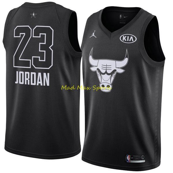 half off b0db2 9106b Details about MICHAEL JORDAN Chicago BULLS Black 2018 Kia ALL STAR GAME  Swingman Jersey S-2XL