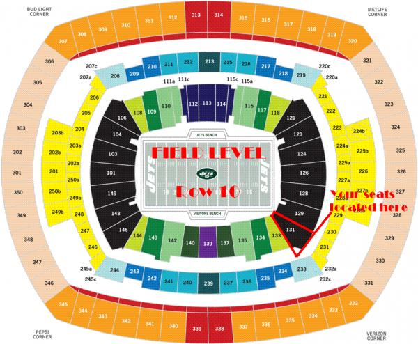 3d01f2d2a 4 Tickets 2019 Season Dallas COWBOYS   vs New York JETS Field ...