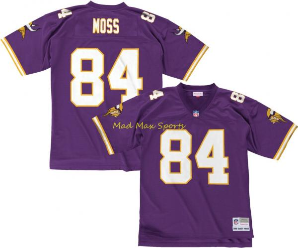 a0dbfe4c RANDY MOSS Minnesota VIKINGS Home MITCHELL AND NESS Throwback ...