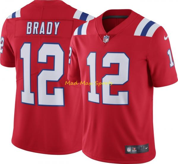 the latest a3c3e 146ab Details about TOM BRADY New England PATRIOTS Nike RED Alternate THROWBACK  Limited Jersey S-2XL