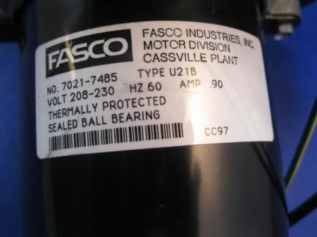 Fasco Inducer Motor 7021 7485 and Blower Fan on PopScreen