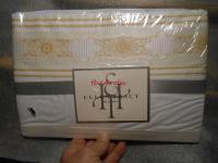 Fieldcrest Ellen Tracy Filigree Supima Cotton King Flat Sheet
