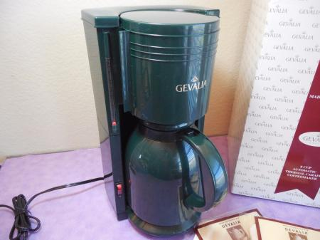 Free Gevalia Coffee Maker And Carafe : GEVALIA KAFFE AUTOMATIC THERMAL CARAFE 8 CUP COFFEE MAKER KA-865MG Dark Green eBay