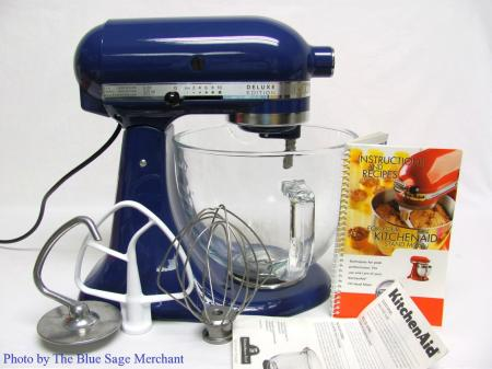 Kitchenaid Deluxe Edition Blue Tilt Head Stand Mixer 325w