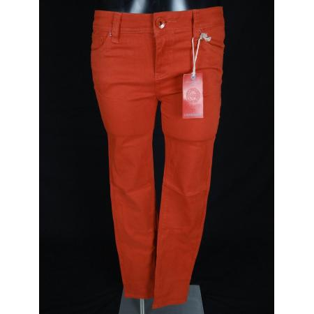 Click here to Enlarge - NWT Womens LA IDOL SKINNY Jeans In Solid ORANGE With ORANGE RIVETS