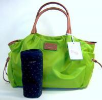 395 KATE SPADE Large Green Nycak Nylon Stevie Baby Bag Diaper NWT