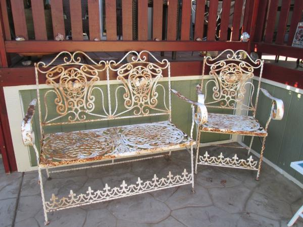 Fantastic Details About Gorgeous Antique Hand Made Wrought Iron Garden Bench Chair W Bird Design Pdpeps Interior Chair Design Pdpepsorg
