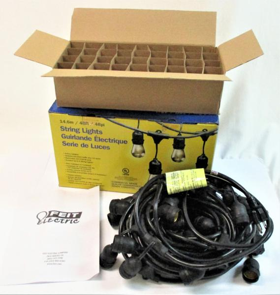 Feit Outdoor String Lights Not Working: Feit Electric 48 Ft Commercial String Lights 24 Socket