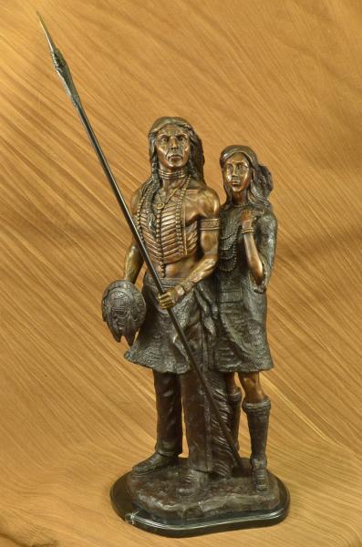 Native American Indian Sioux Warrior Statue Figurine Decor
