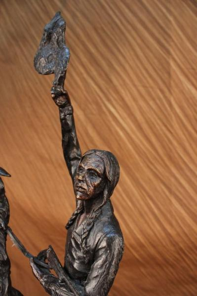 Indians WESTERN ART Bronze FREDERIC REMINGTON SCULPTURE FIGURINE ART