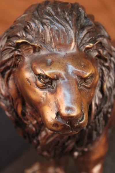 Guardian Lion Monumental Bronze Statue Large Garden Statue