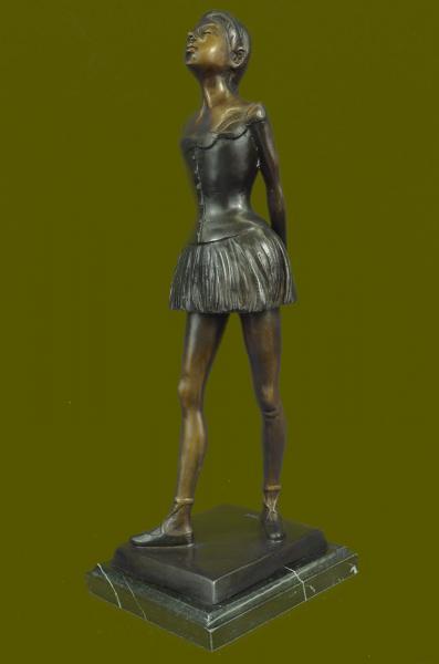 French Bronze Degas Ballerina Girl Statue Figurine Ballet ...