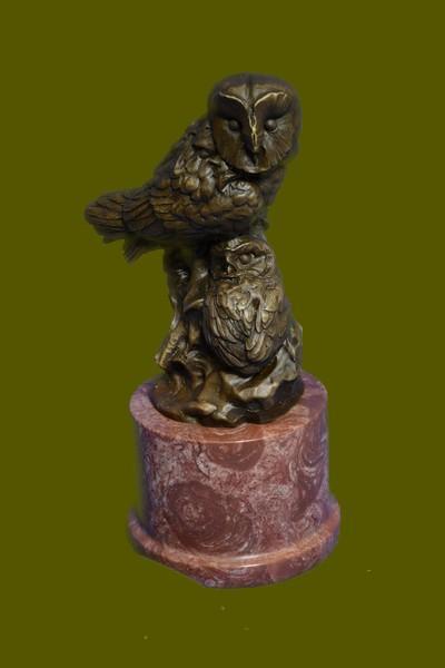 Prey Owl Bird Bronze Marble Sculpture Statue Hot Cast Lost Wax Figurine Figure