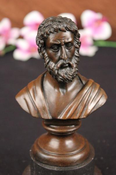 Pure Bronze Aristotle Statue Philosophy Hot Cast Sculpture