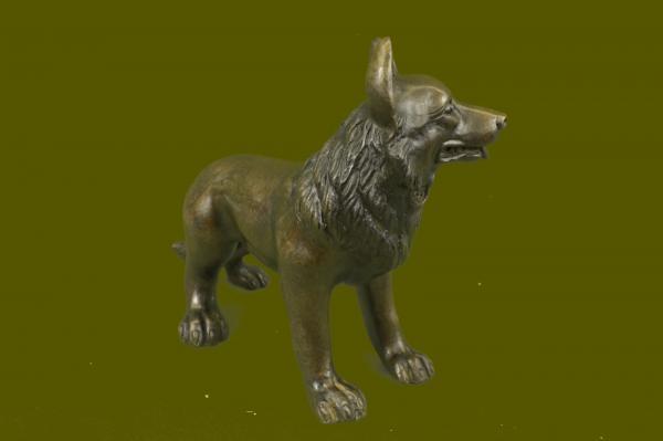 Estatua bronce perro pastor alem n perros razas escultura for Ahuyentar perros del jardin