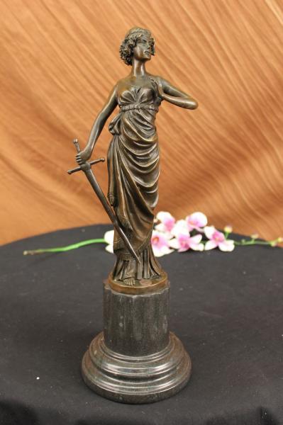 Bronze Statue Ancient Rome Greek Soldier Warrior Marble Sculpture