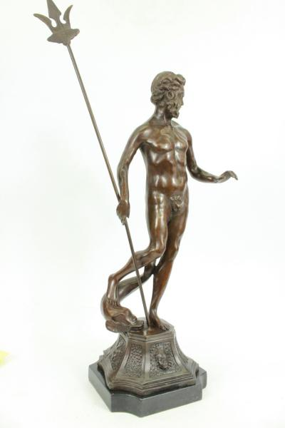 Atlantis poseidon neptune sea greek god marine ocean art bronze marble statue - Poseidon statue greece ...
