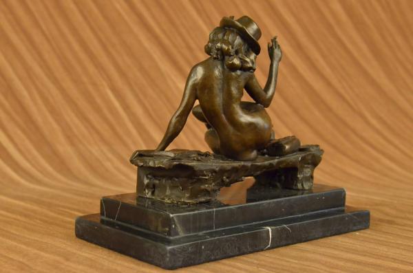 Art Deco Bronze Statue Nude Actress Dancer Jazz Club