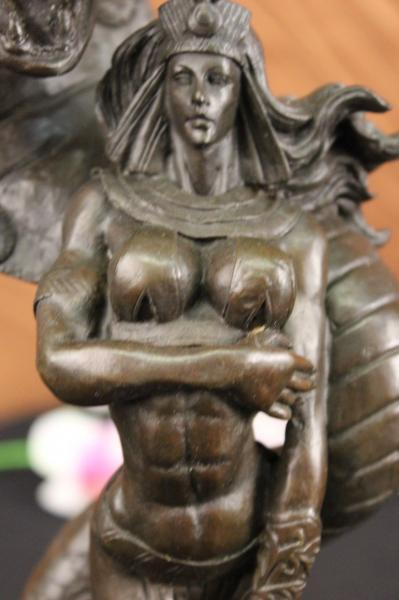 Hand Made Bronze Nude Female Sculpture Statue Snake By