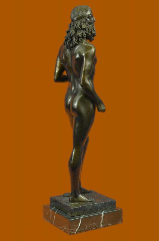 Art Deco Bronze Statue Poseidon Zeus Merman Figure Marble Sculpture 16