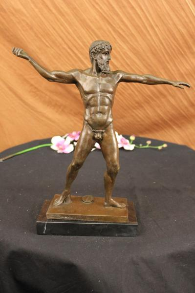 French Artemision Bronze Zeus Poseidon Male Nude Greek God