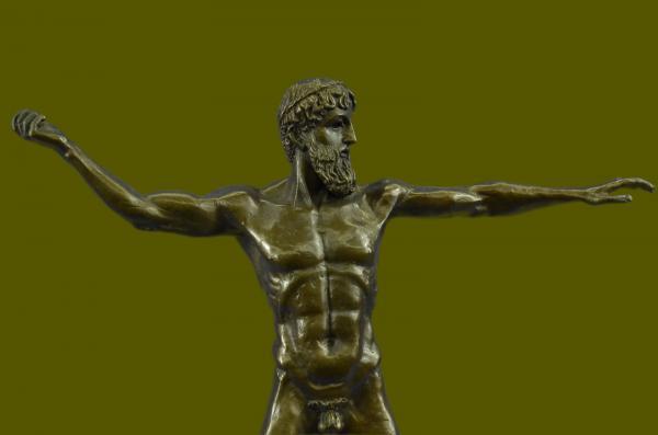 Poseidon God Of Sea Throwing Trident Greek Mythology
