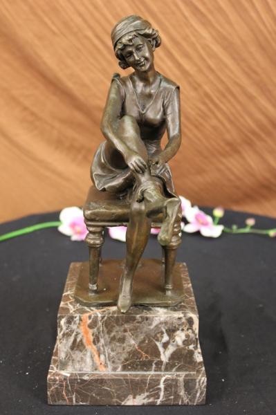 deco bronze regule statue sculpture femme nue le verrier godard figurine ebay