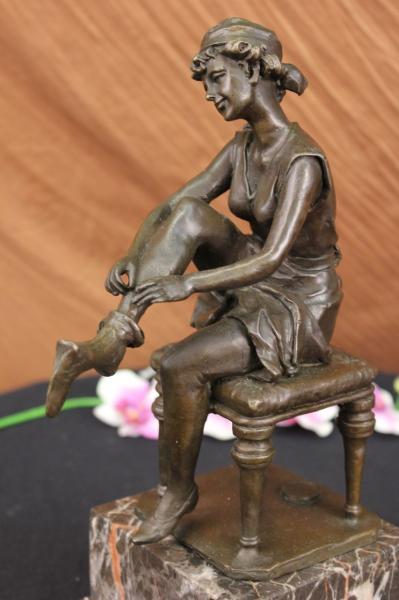 deco bronze regule sculpture femme nue le verrier godard figurine statue ebay